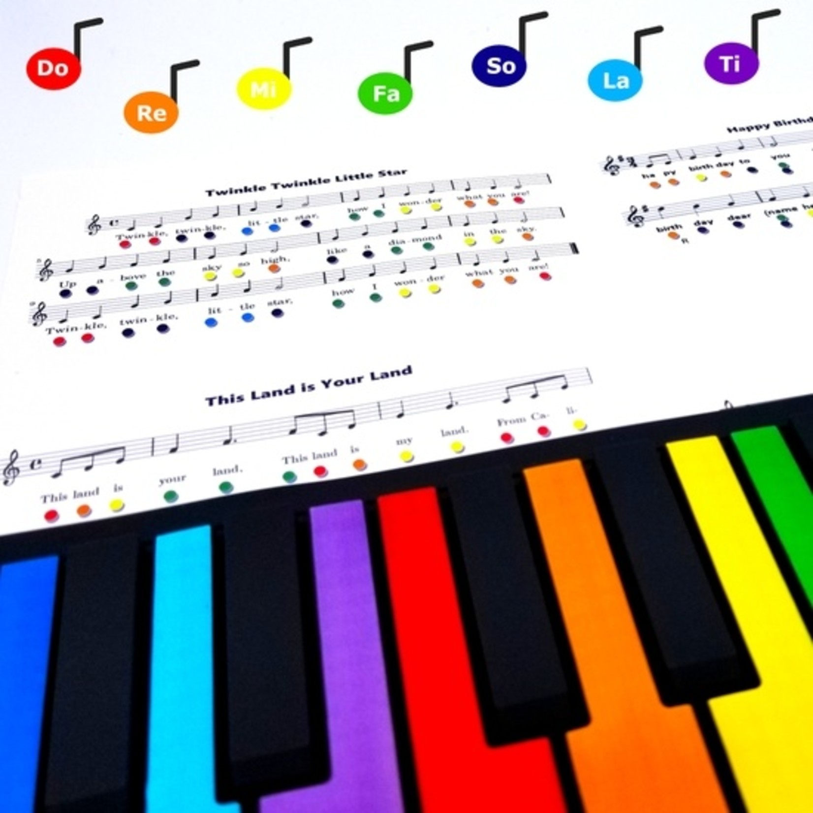 Rollable Rainbow Piano