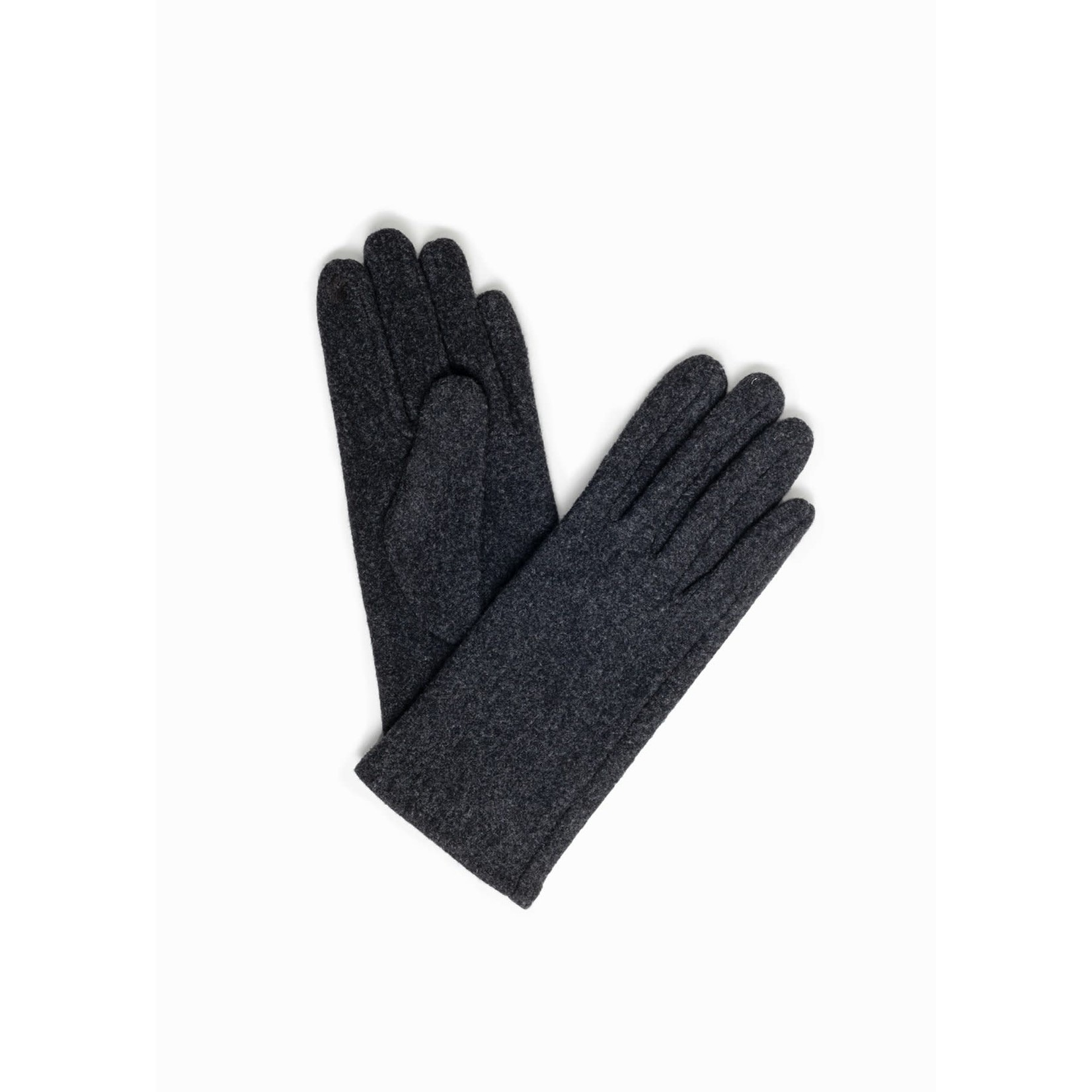 Look By M Chic Plain Gloves in Charcoal