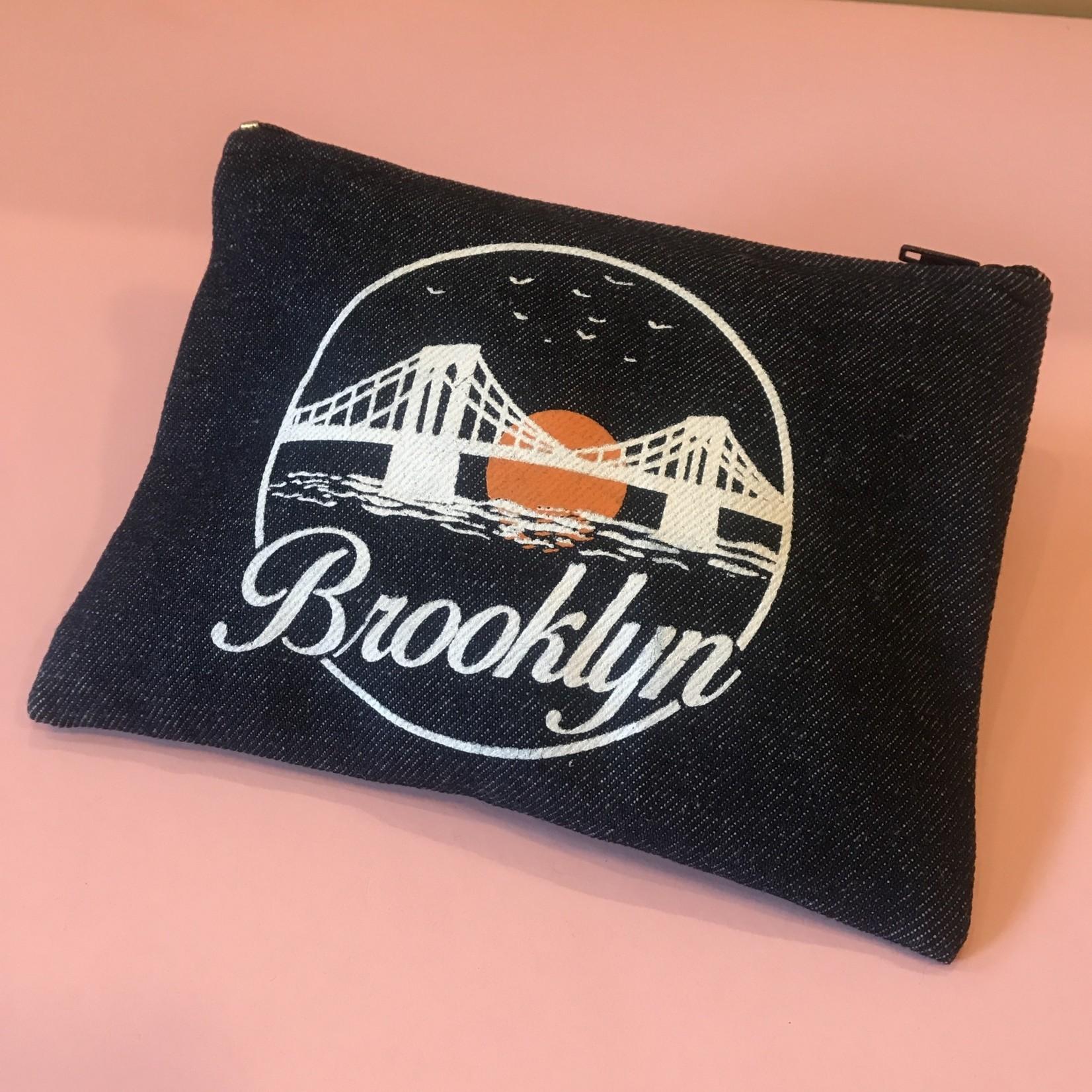 Exit9 Gift Emporium Brooklyn Sunset Denim Pouch