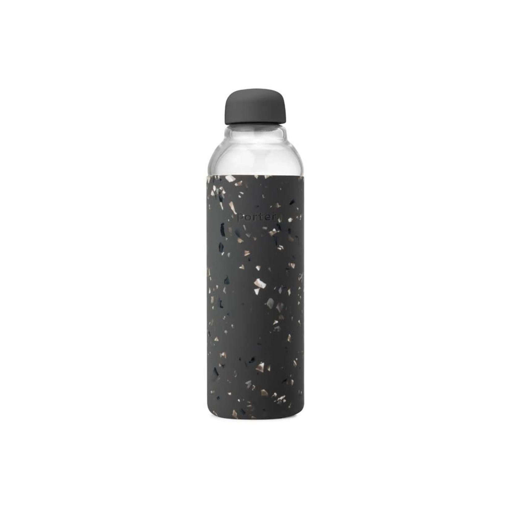 Terrazzo Glass Bottle in Charcoal