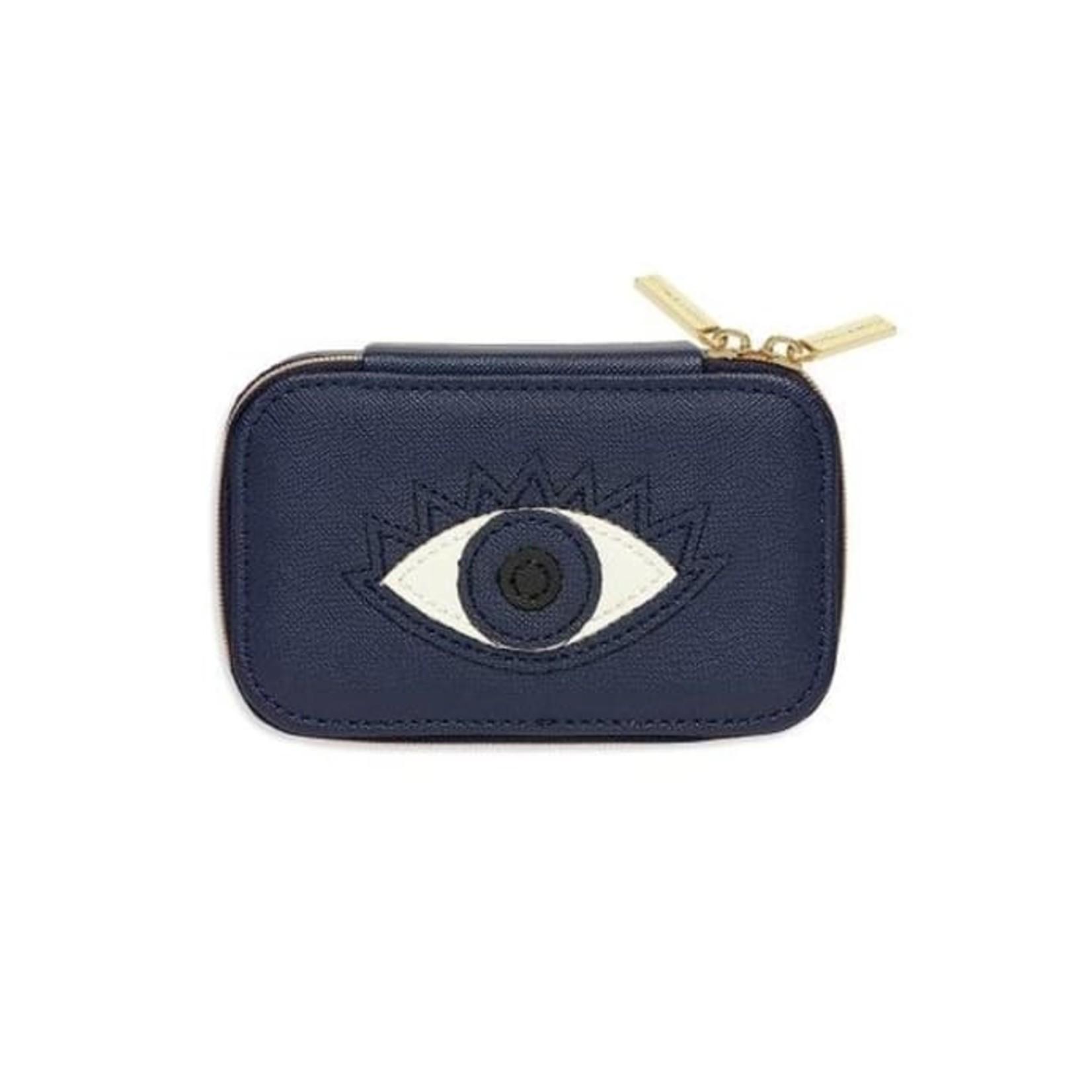 Navy Eye Mini Jewelry Box