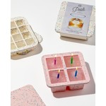 W & P Designs Peak XL Ice Cube Tray in Speckled Pink