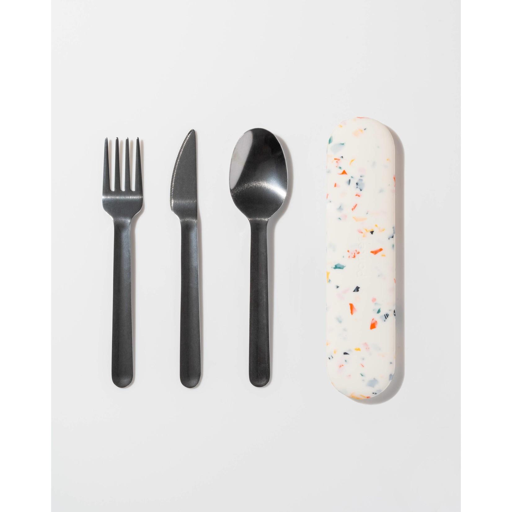 W & P Designs Utensils To Go in Terrazzo Cream