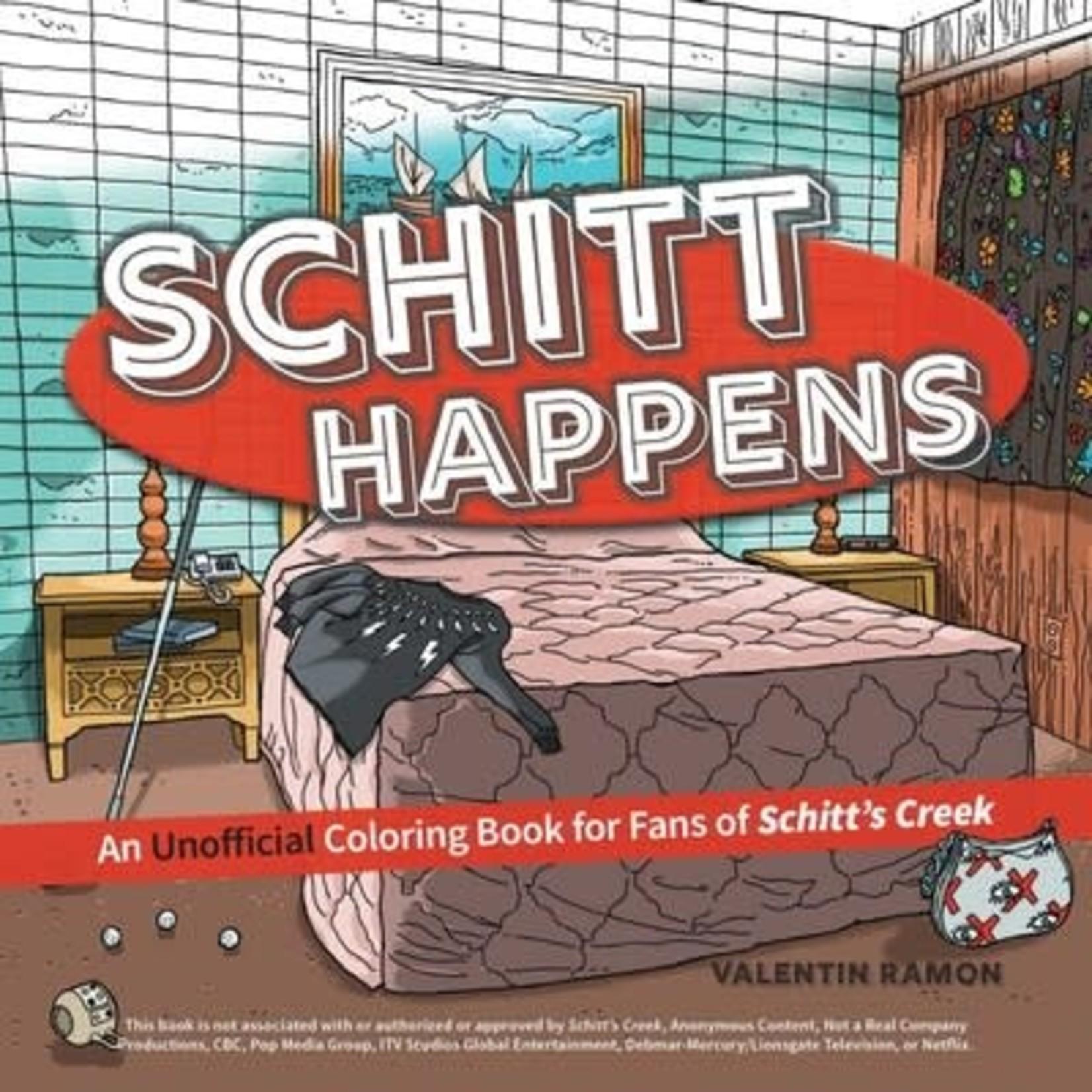 Simon and Schuster Schitt Happens Coloring Book