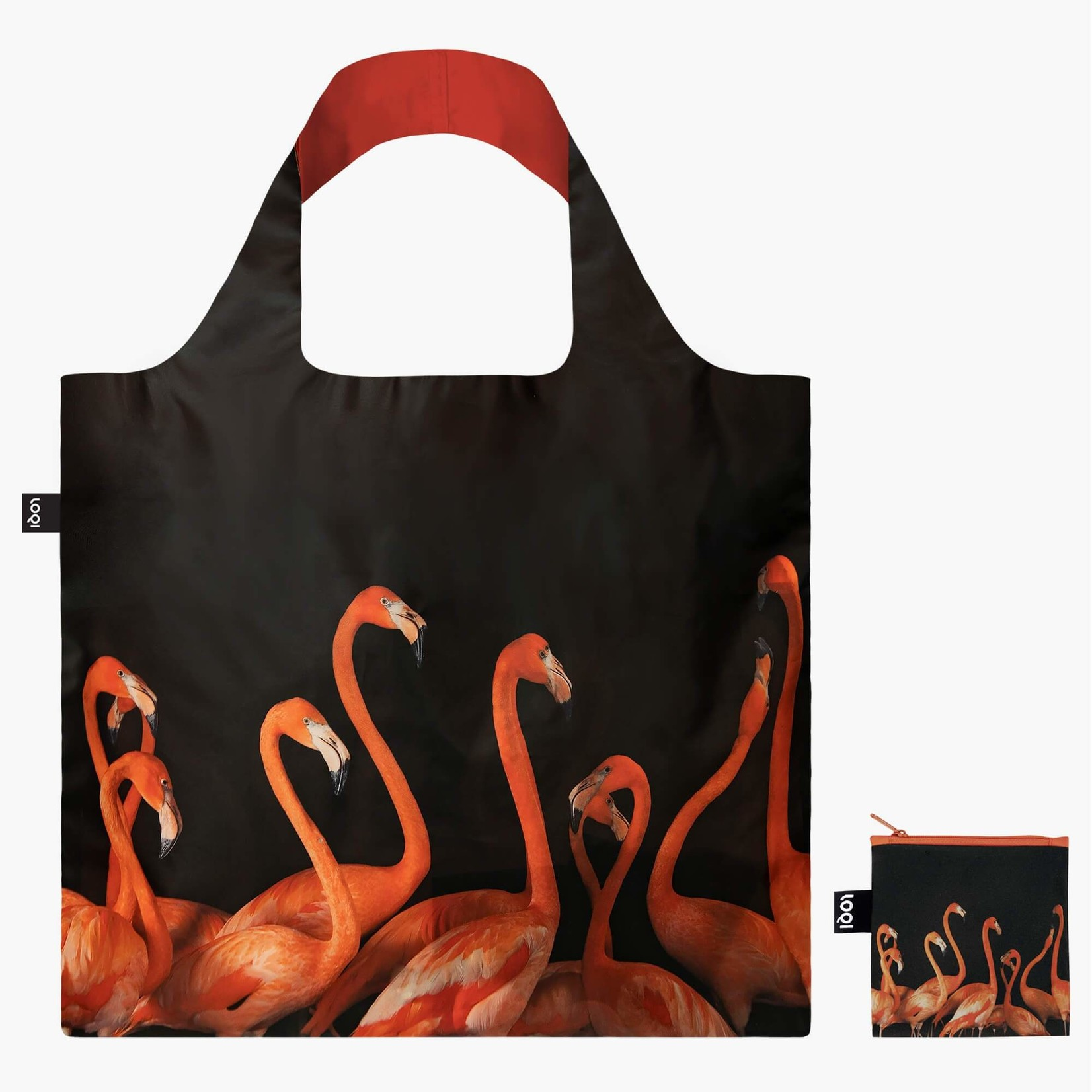 Loqi Bag: Flamingos