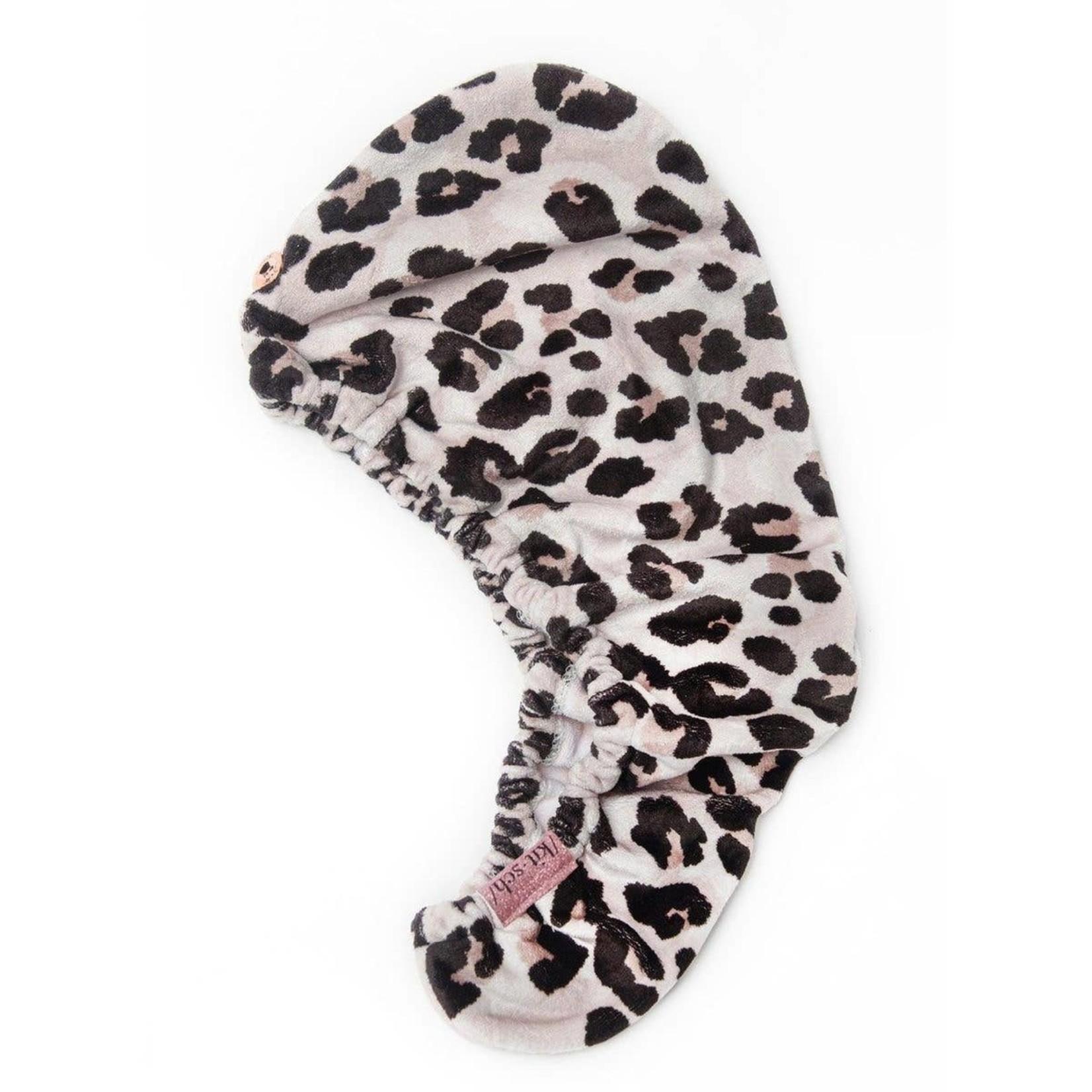 Kitsch Microfiber Hair Towel in Leopard
