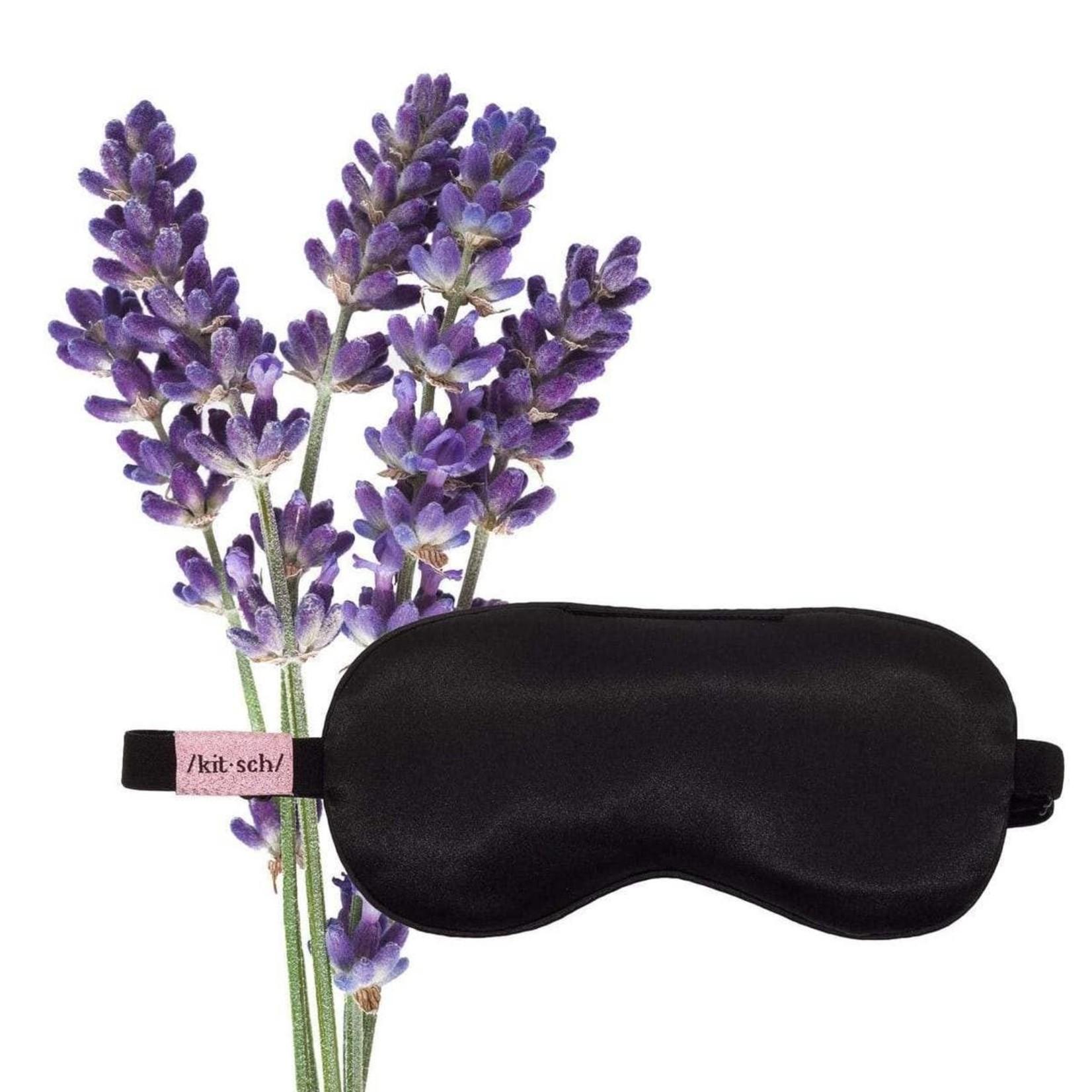 Kitsch Satin Weighted Eye Mask in Lavender Scent