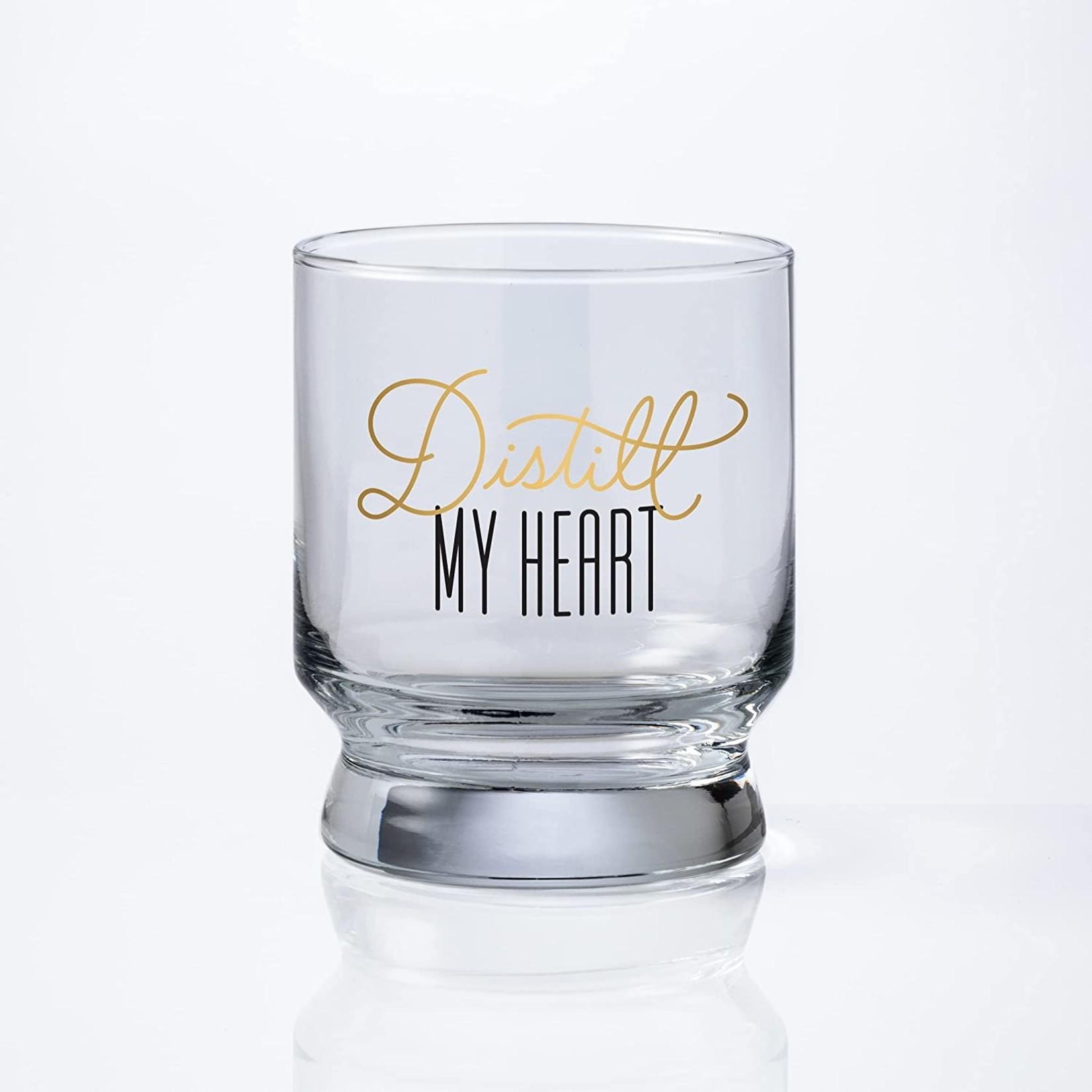 Distill My Heart Lowball Glass