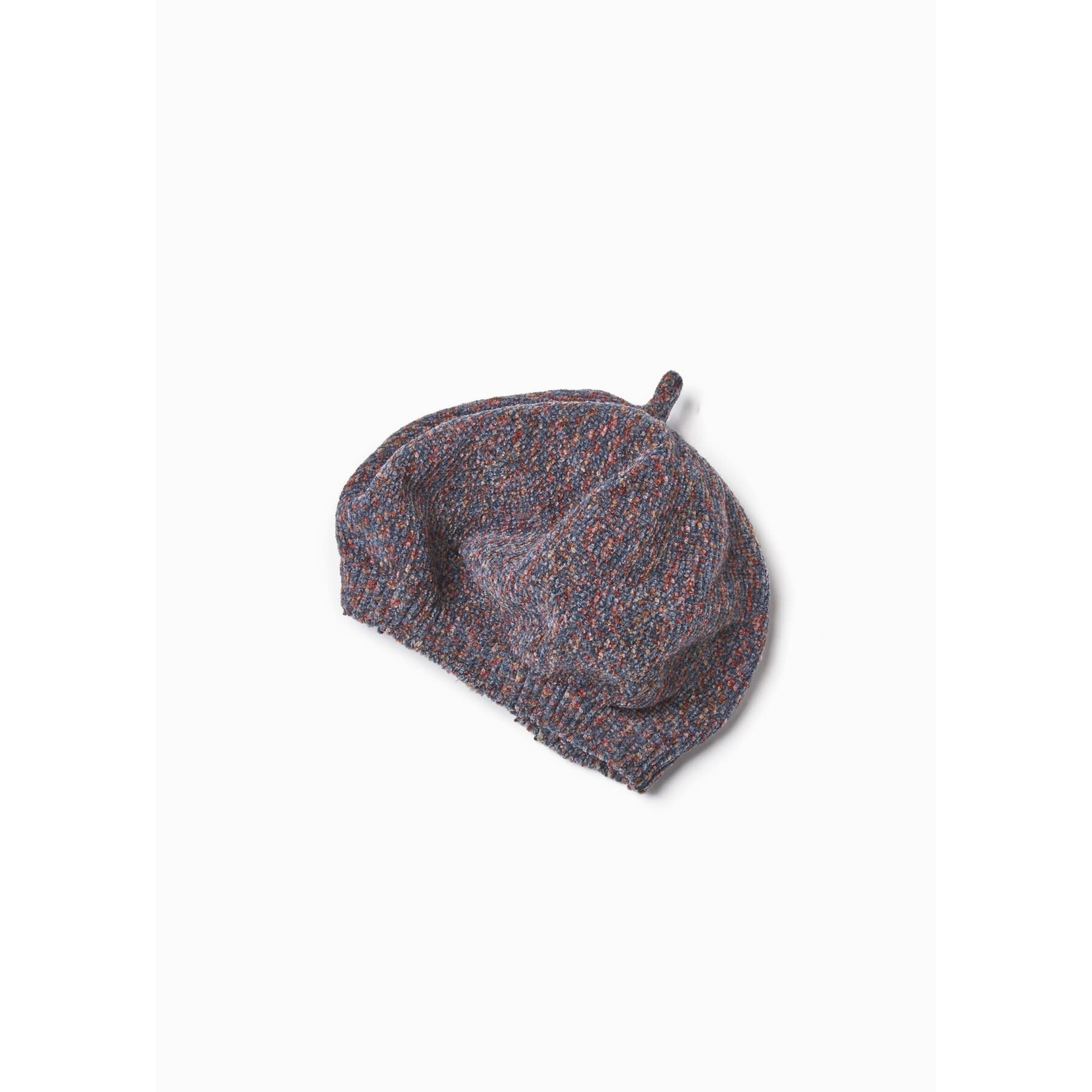 Multi-Color Chenille Beret in Pink