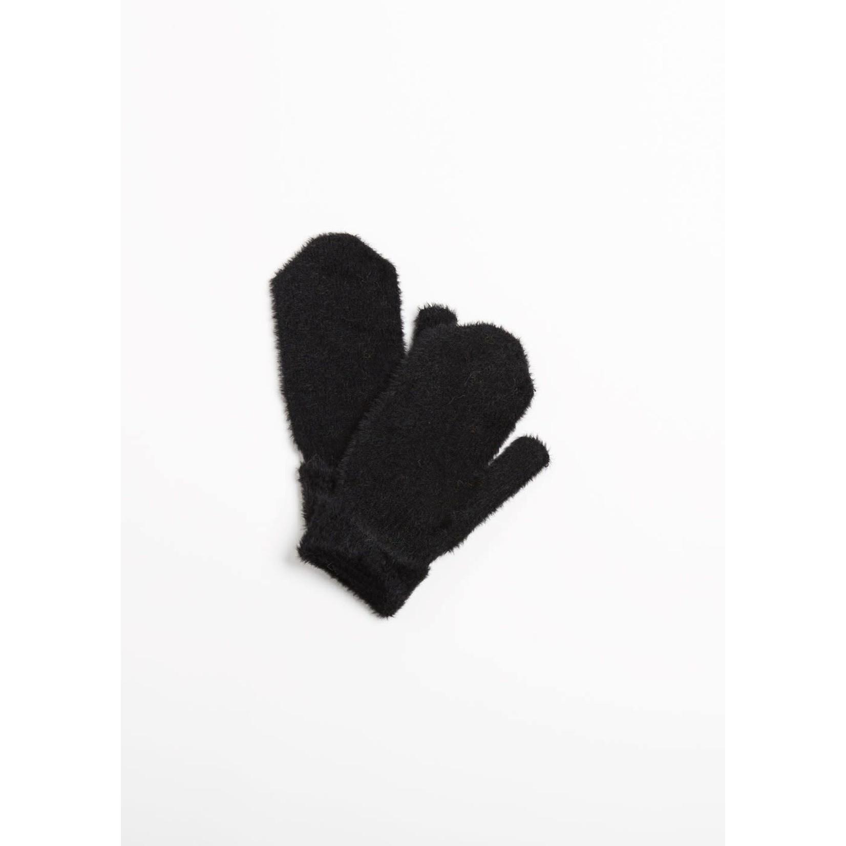 Angora Basic Mittens in Black