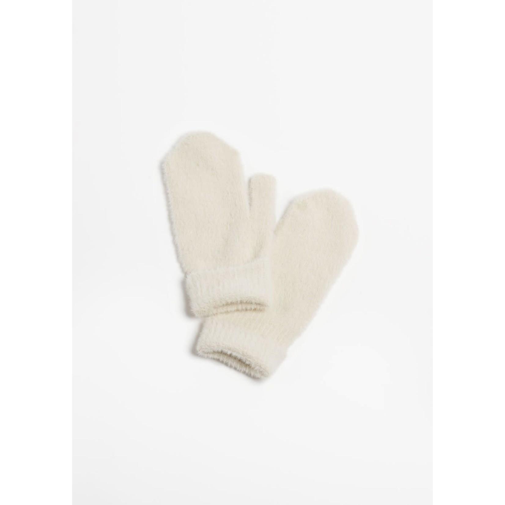 Angora Basic Mittens in Ivory