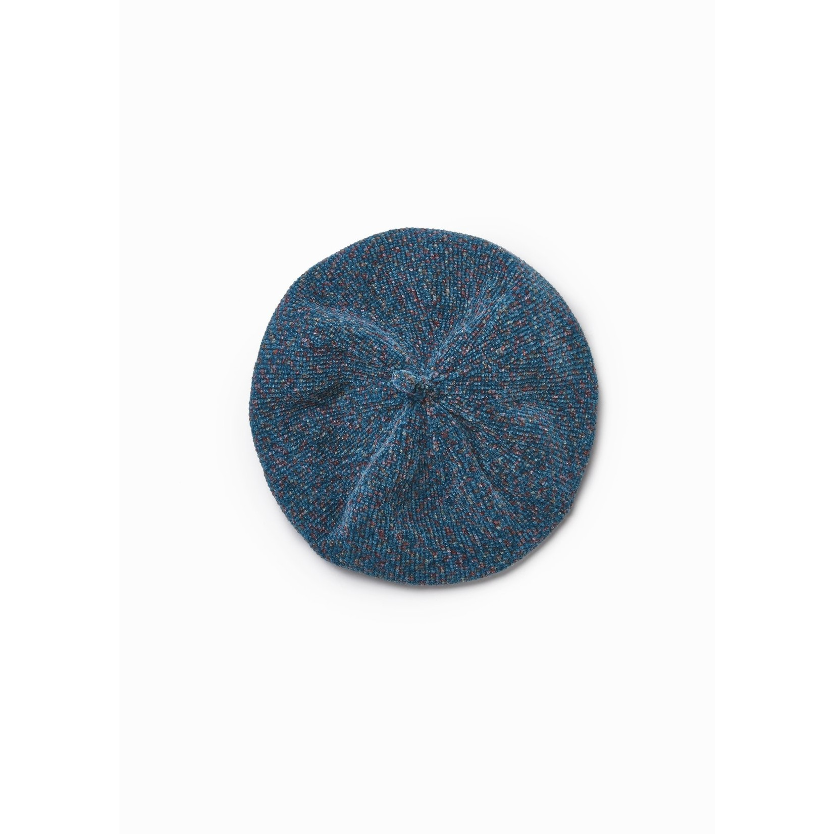 Multi-Color Chenille Beret in Teal