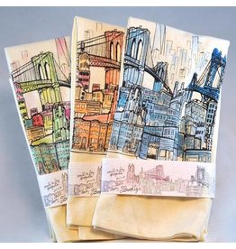 Brooklyn Bell Tower Brooklyn Landscape Tea Towel