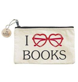 Seltzer I Heart Books Pouch