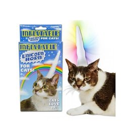 Accoutrements Inflatable Cat Unicorn Horn