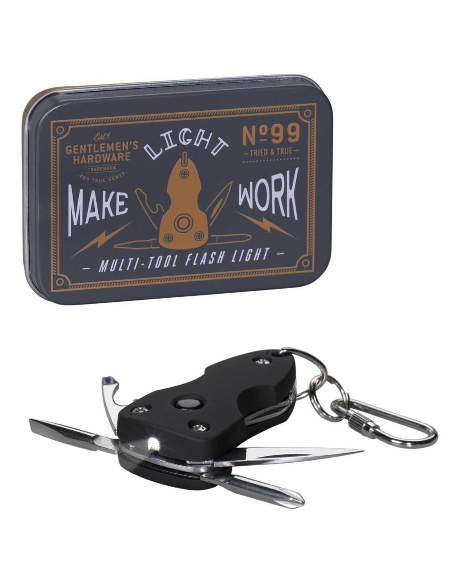 Gentleman's Hardware Pocket Multi Tool with Flashlight