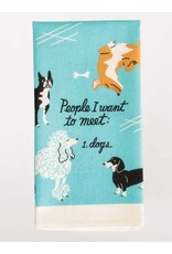 Blue Q People to Meet: Dog Dish Towel