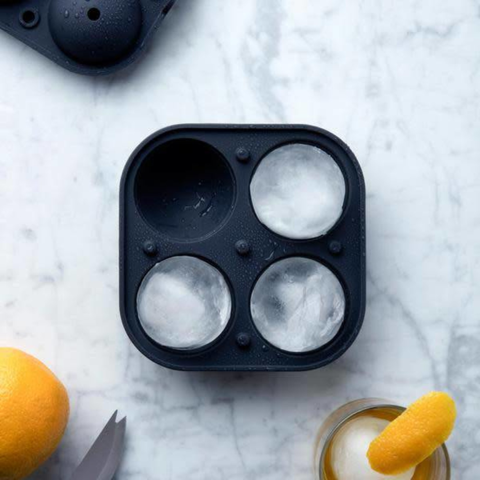 W & P Designs Sphere Ice Mold Charcoal