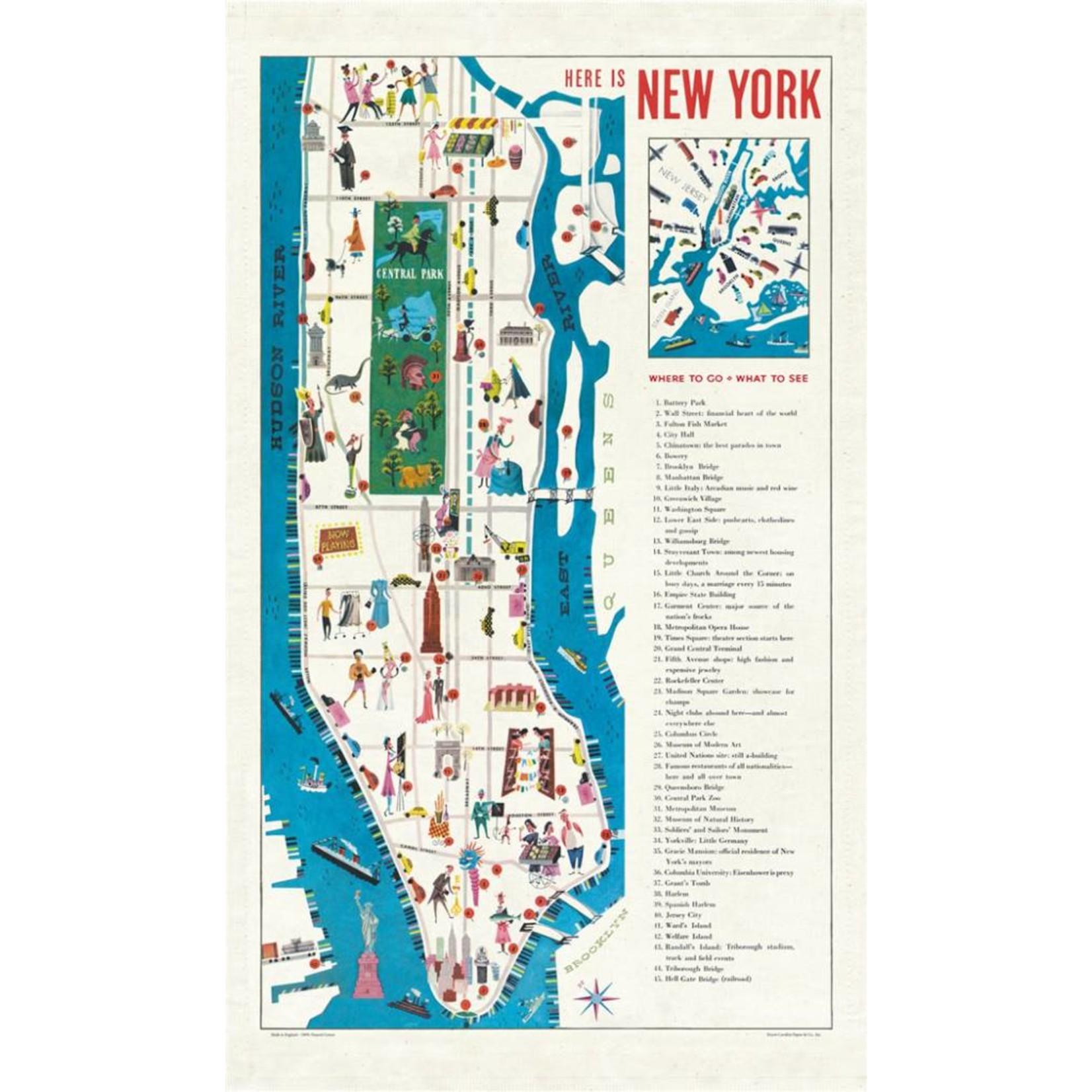 Cavallini Vintage New York Tea Towel
