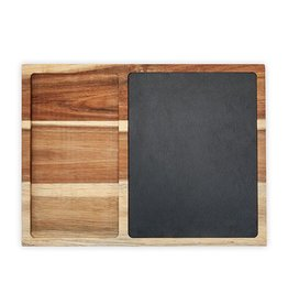 True Fabrications Rustic Farmhouse Slate and Wood Appetizer Board