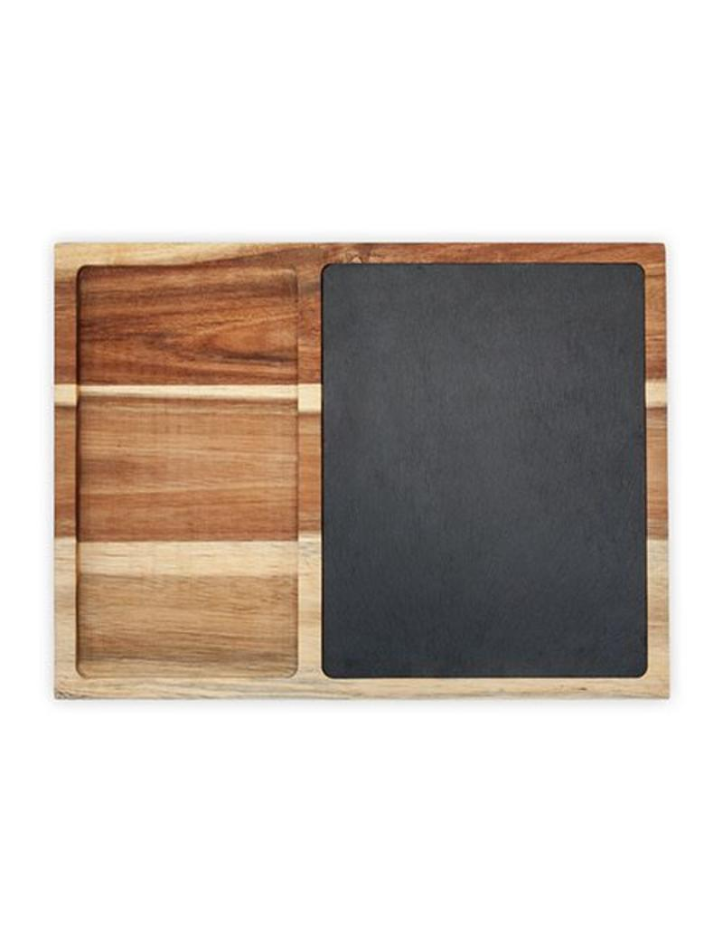 Twine Rustic Farmhouse Slate and Wood Appetizer Board