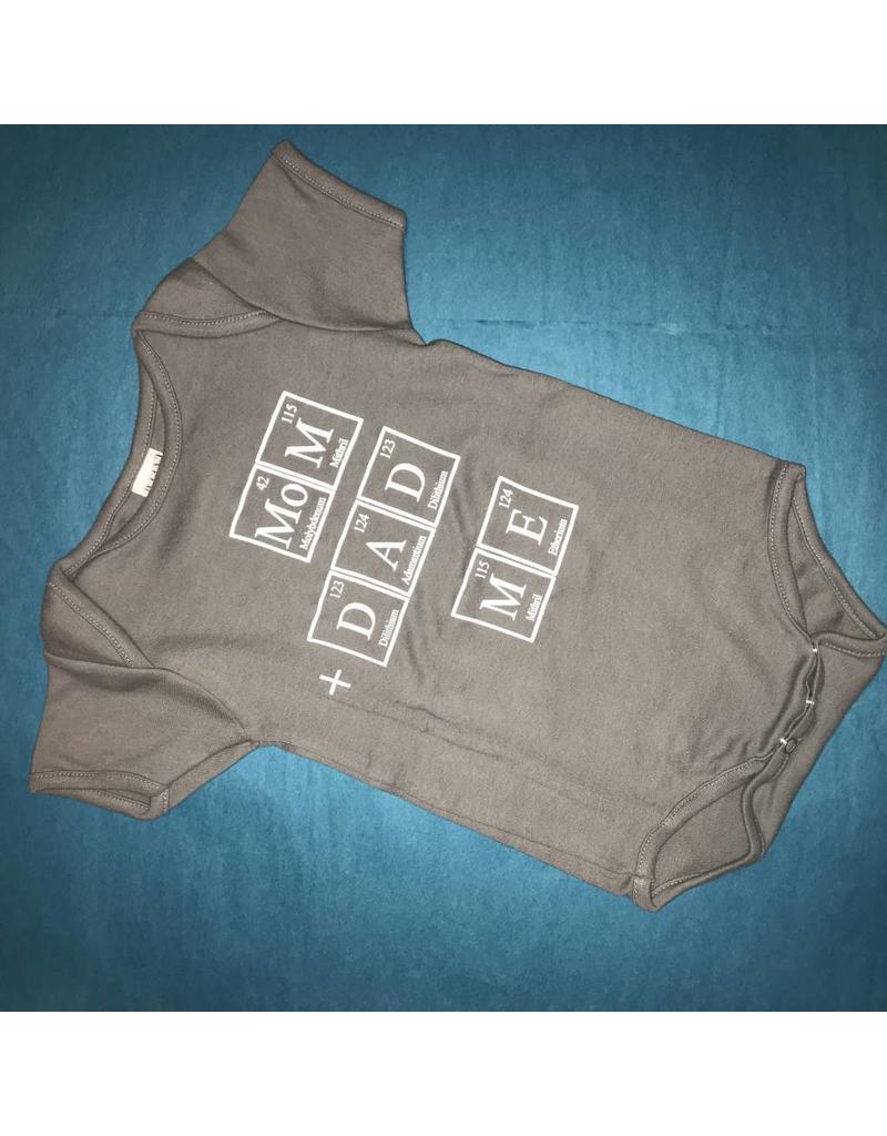 Exit9 Gift Emporium Mom + Dad = Me Onesie