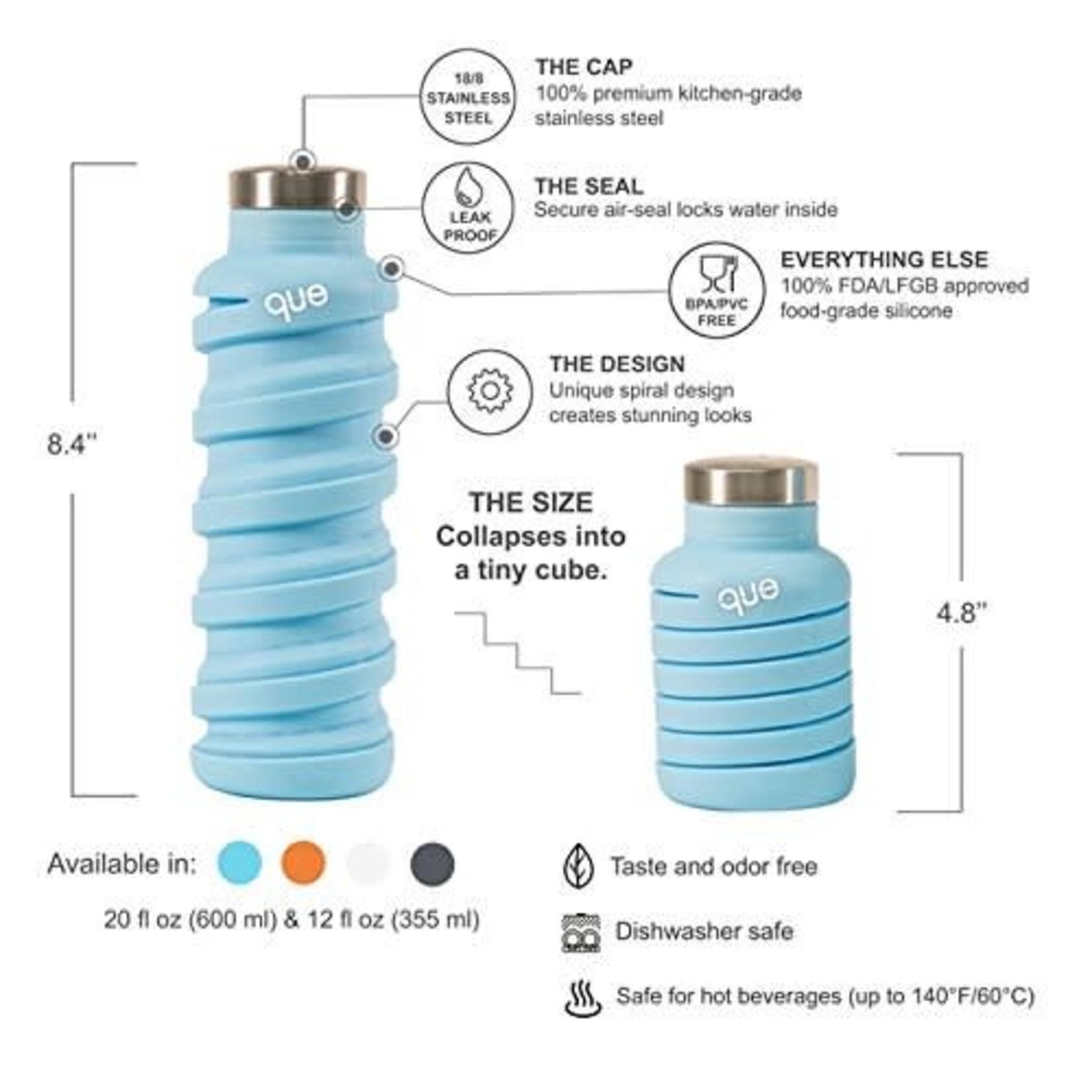 Que Que Bottle in Ice Blue
