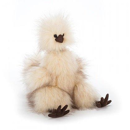 Regarde une feuille de personnage Jellycat-silkie-chicken