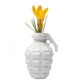 Chive Grenade Vase in White