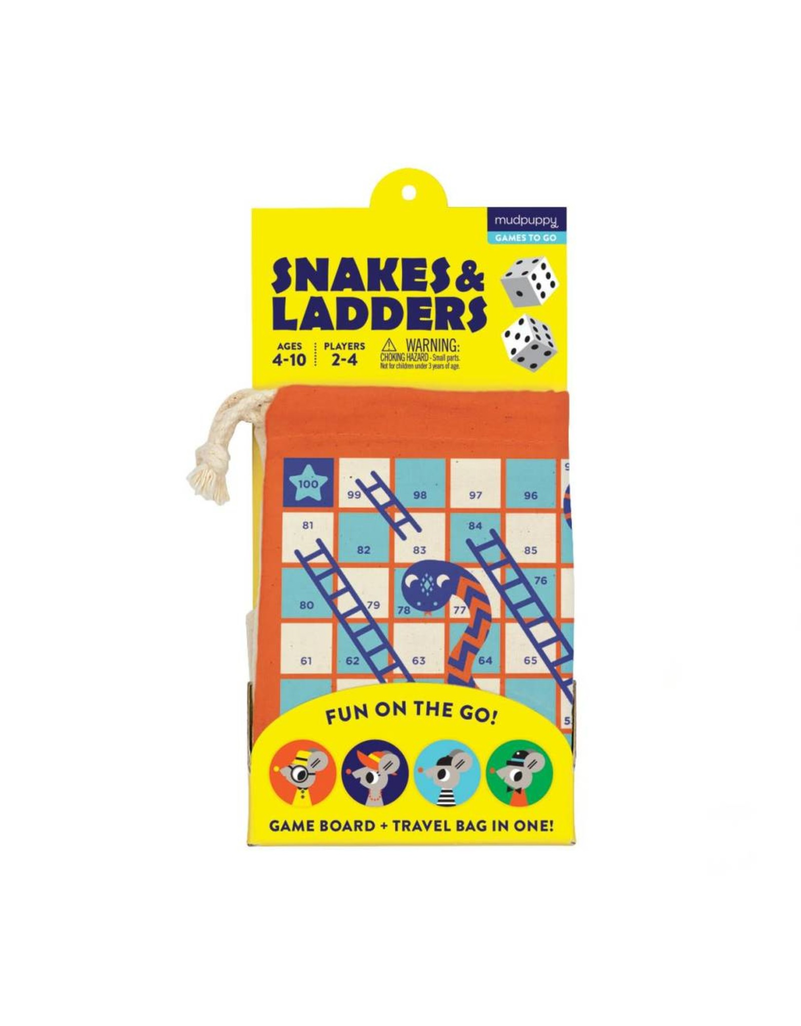 mudpuppy Snakes & Ladders On-the-Go
