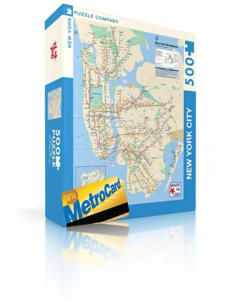Newyork City Subway Map.New York City Subway Map Puzzle Exit9 Gift Emporium