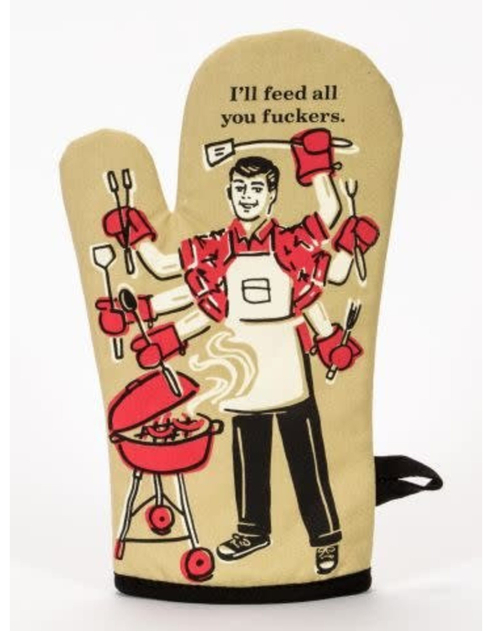 Blue Q Feed All You Oven Mitt