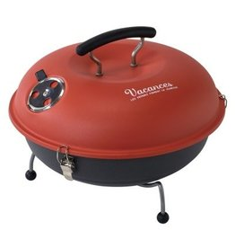 Mini Grill and Smoker in Red