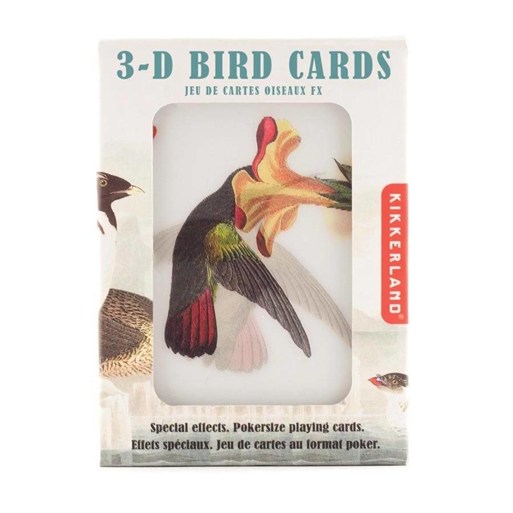 Kikkerland 3D Bird Playing Cards