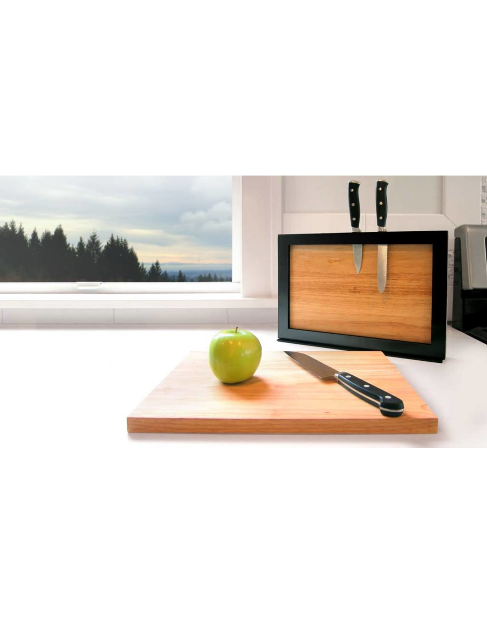 I Love Handles Chops Cutting Board and Knife Holder