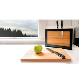 I Love Handles Chops Cutting Board and Knife Holder