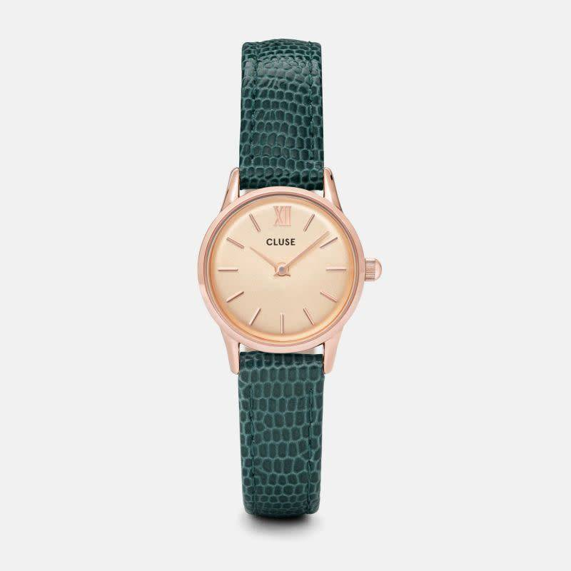 CLUSE La vedette Rose gold Emeraude lizard