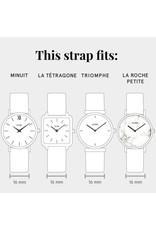 CLUSE Tétragone Strap - black/Silver