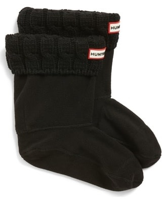 HUNTER Original Cable knit short socks