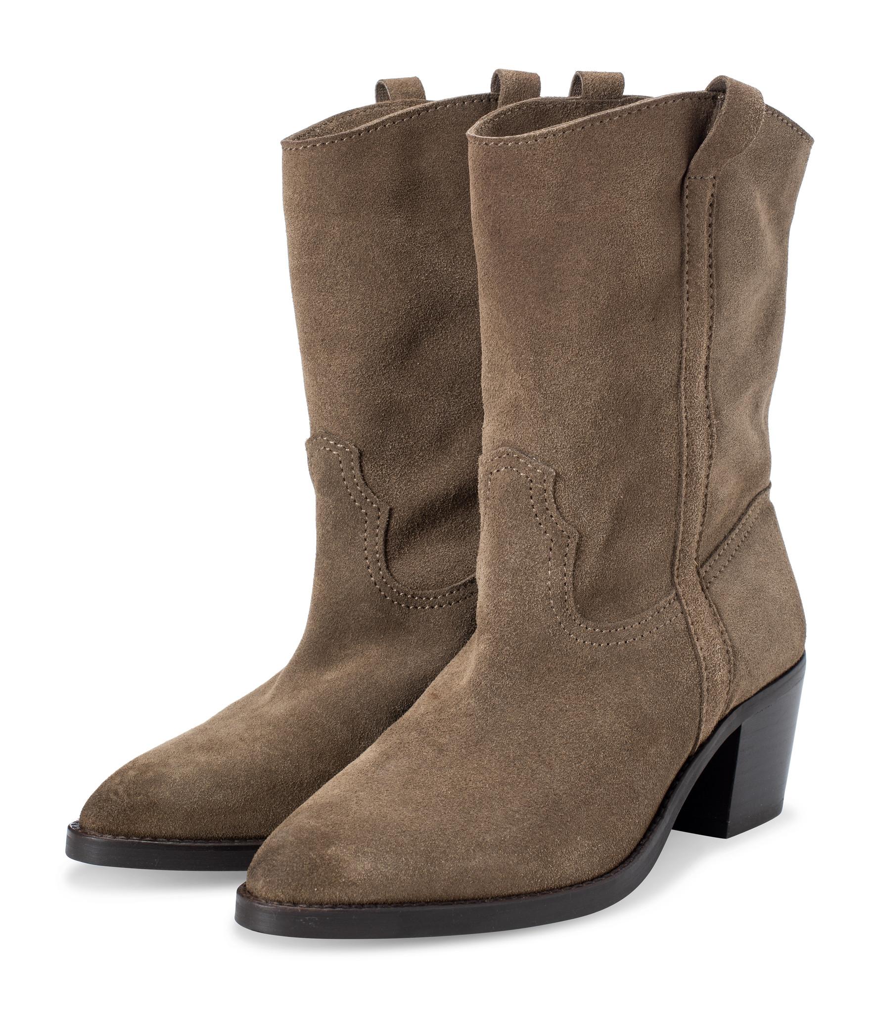 YAYA SUEDE COWBOY BOOTS -134359
