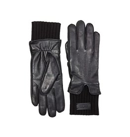 UGG LEATHER GLOVE TECH & KNIT