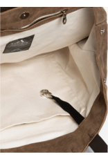 ANFIBIO TOTE SUEDE TABAC