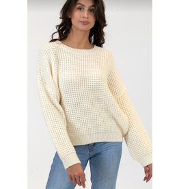 LYLA & LUXE TEXTURED SWEATER