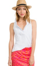Gretchen Scott Ruffneck Top Sleeveless