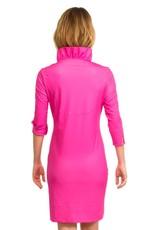 Gretchen Scott Ruffneck Dress 3/4 Slv