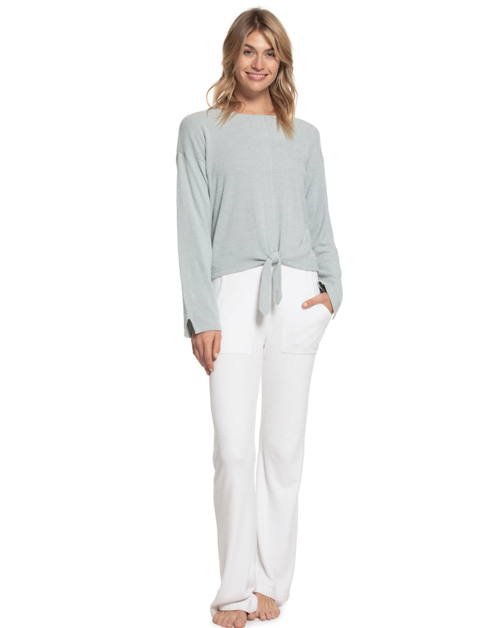 Barefoot Dreams Cozy Chic Ultra Lite Tie front Top