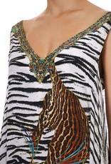Camilla V-Neck Dress Back Overlayer