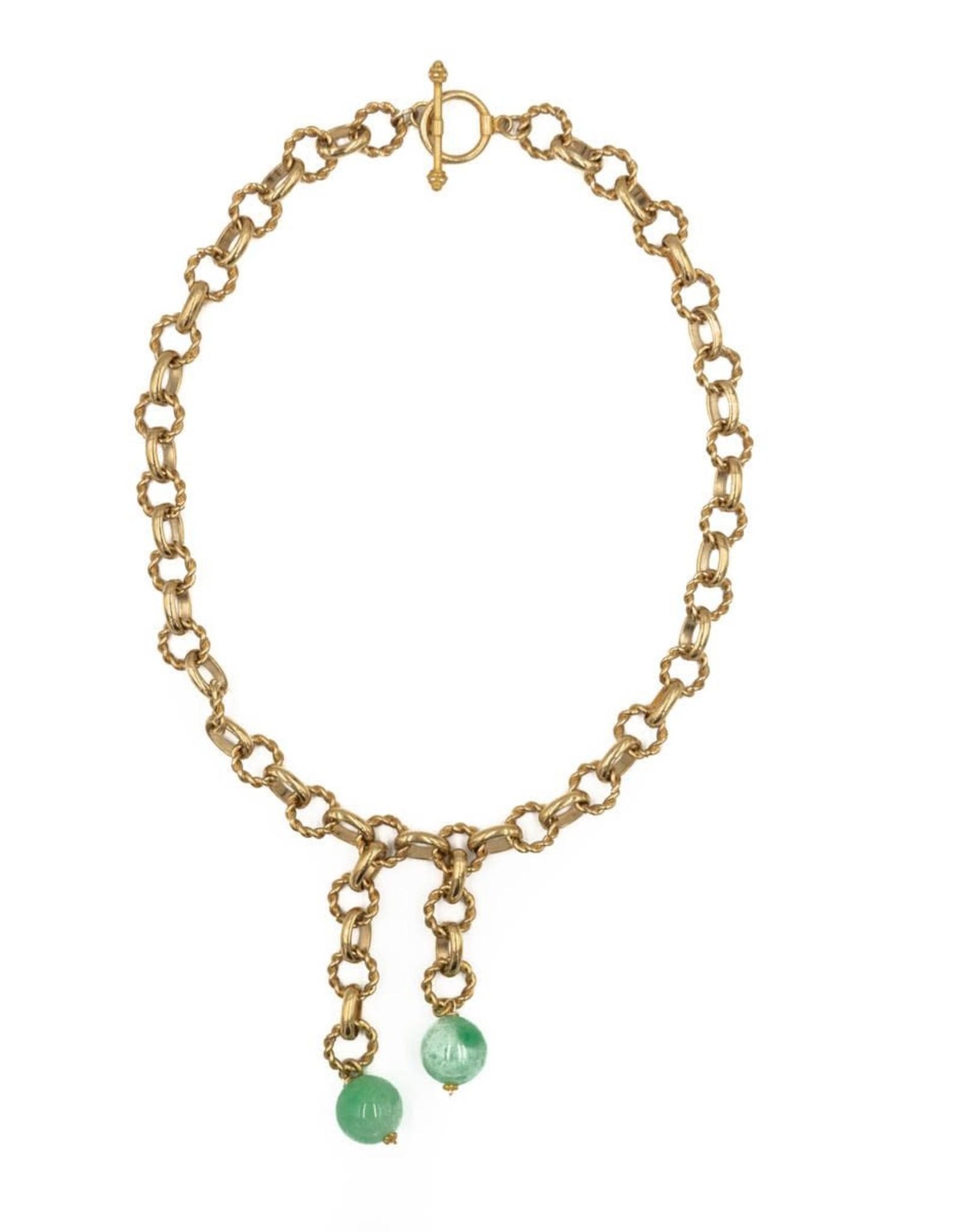 Hazen & Co. Monarch Necklace Green Jade