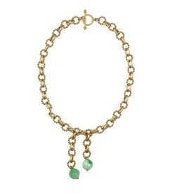 Hazen & Co. Monarch Necklace Green Jade