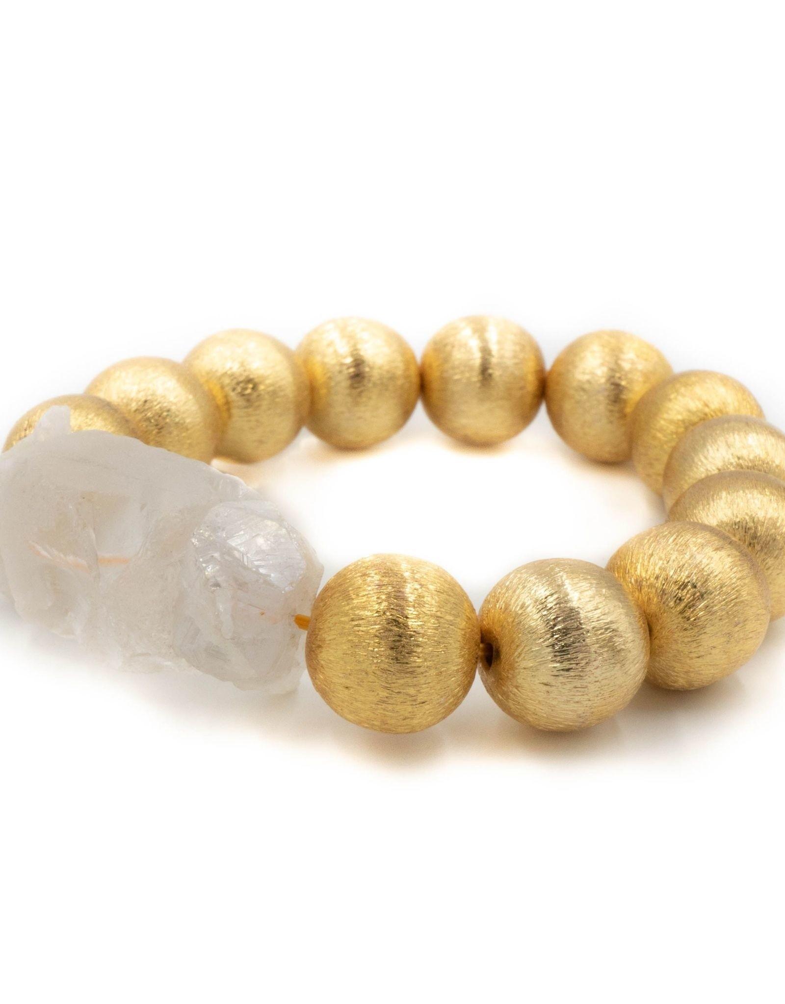 Hazen & Co. Sophie Clear Glass Bracelet